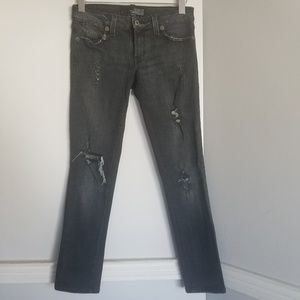 Guess Co. Stretch distressed skinny black Jeans 30